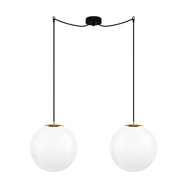 Bílé stropní svítidlo s detaily ve zlaté barvě Sotto Luce TSUKI L Elementary 2S