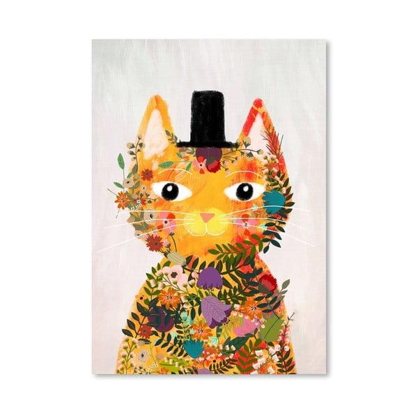 Plakát od Mia Charro -  Flower Cat