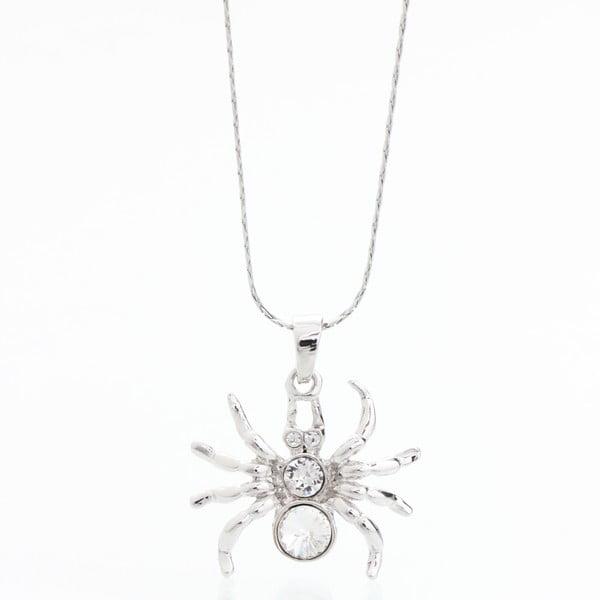 Náhrdelník se Swarovski Elements, stříbrný pavouk
