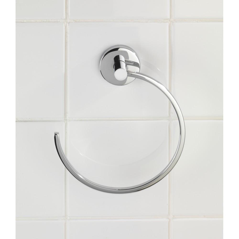 Kruhový držák na ručníky bez nutnosti vrtání Wenko Vacuum-Loc Capri, až 33kg