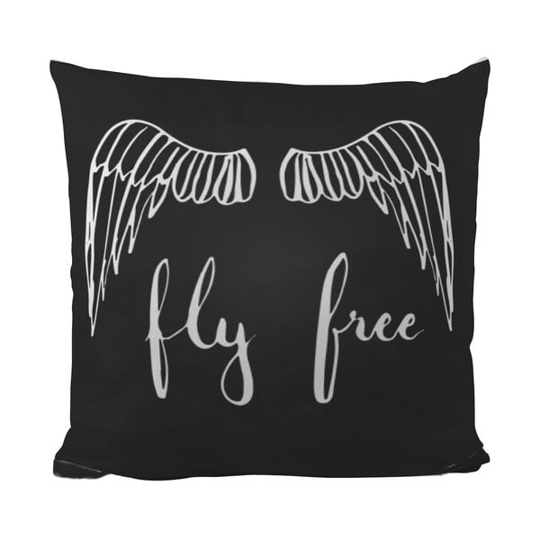 Polštářek Black Shake Fly Free, 40x40 cm