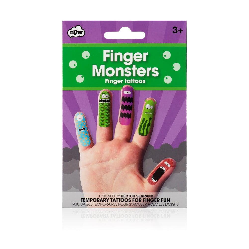 Sada tetování na prsty npw™ Monster