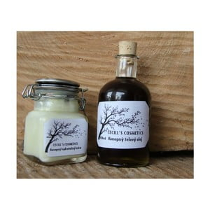 Dárková sada pleťový krém a konopný olej, aloe vera