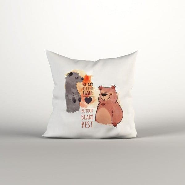 Față de pernă Bear Love, 40 x 40 cm