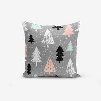 Față de pernă cu amestec din bumbac Minimalist Cushion Covers Grey Background Agac, 45 x 45 cm de la Minimalist Cushion Covers