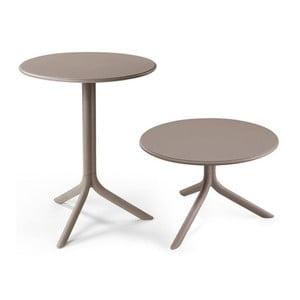 Béžovošedý nastavitelný zahradní stolek Nardi Garden Spritz