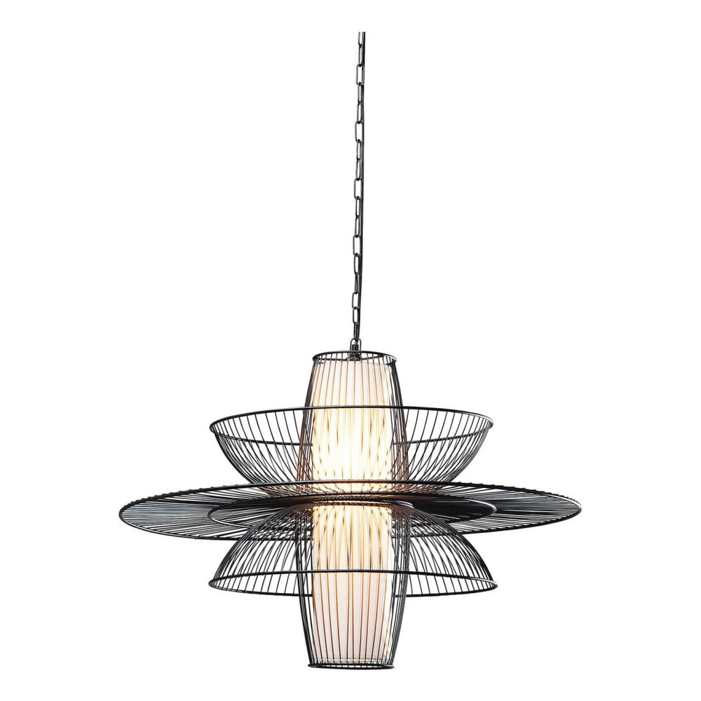 Černé stropní svítidlo Kare Design Cappello