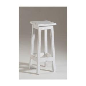 Scăunel din lemn Castagnetti Dato, 100 x 100 cm, alb