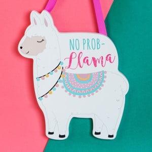 Nástěnná závěsná dekorace Just 4 Kids Llama No Prob