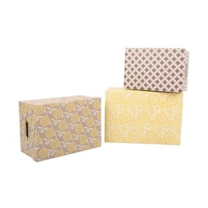 Sada 3 úložných krabic Yellow Dream