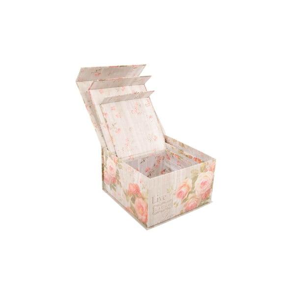 Sada 3 úložných krabic Scatole