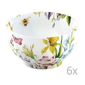 Sada 6 misek English Garden Floral