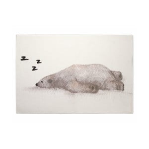 Dětský ručně vyrobený koberec Naf Naf Snow Bear, 150 x 100 cm