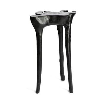 Masă din lemn de tec Simla Jungle,⌀40cm, negru de la Simla