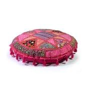 Ručně vyšívaný polštář Rajastan, růžový