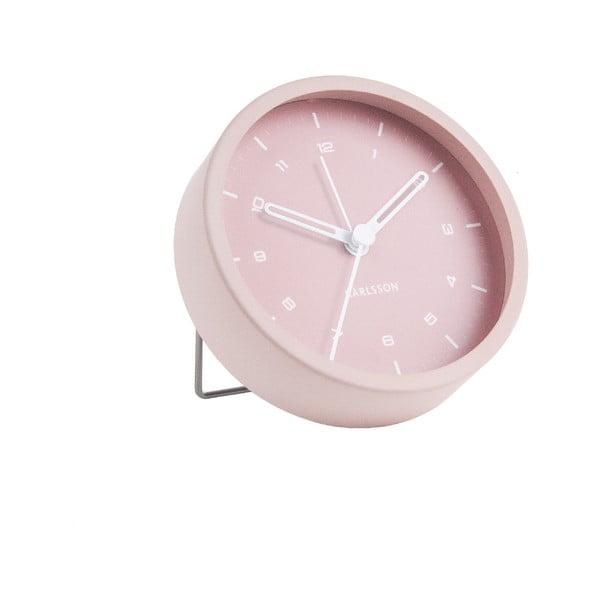 Ceas cu alarmă Karlsson Tinge, ø 9cm, roz deschis
