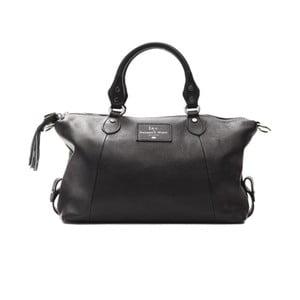 Černá kožená kabelka f.e.v. by Francesca E. Versace Rusita
