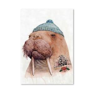 Plakát Tattooed Walrus, 30x42 cm