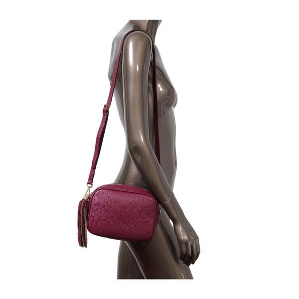 Bordó kožená kabelka Andrea Cardone 1031