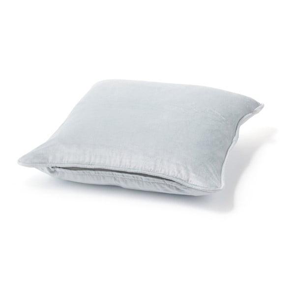 Stříbrný polštář Fluweel, 45x45cm