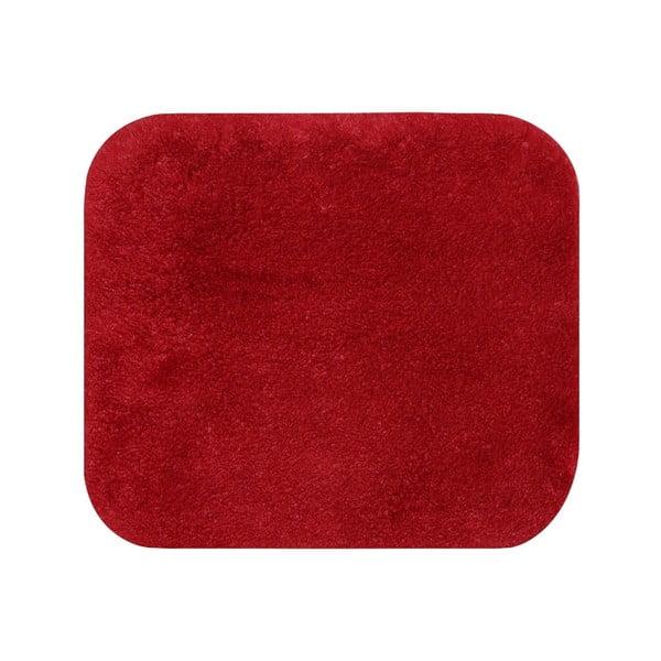 Czerwony dywanik łazienkowy Confetti Miami, 50x57 cm