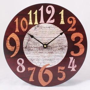 Dřevěné hodiny Numbers, 30x30 cm