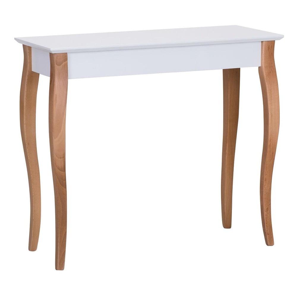 Bílý odkládací stolek Ragaba Console, délka 85 cm