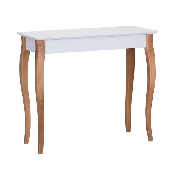 Console fehér tárolóasztal, hosszúság 85 cm - Ragaba
