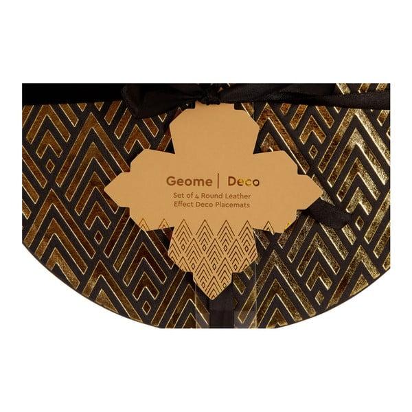 Sada 4 koženkových prostírání Premier Housewares Deco, ⌀ 25 cm
