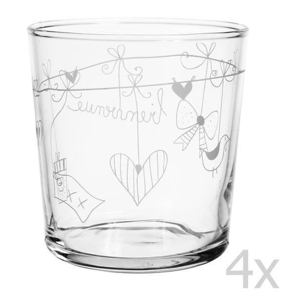Sada 4 sklenic Bienvenue, 370 ml