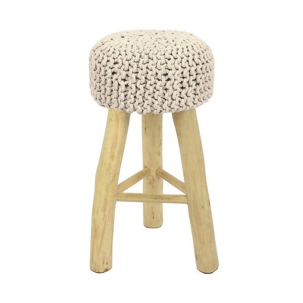 Barová židle HF Living Nature s bílým  potahem