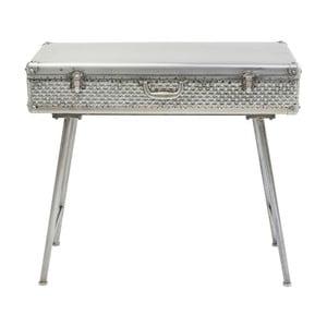 Šedý konzolový stolek s úložným prostorem Kare Design Suitcase