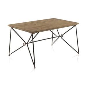 Masă cu blat din lemn și structură din metal Geese, 150 x 90 cm