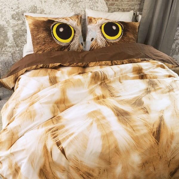 Povlečení Owl Look Taupe, 200x200 cm