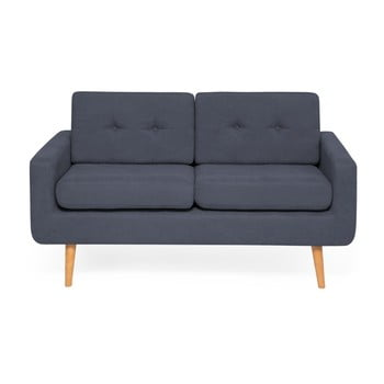 Canapea cu 2 locuri Vivonita Ina, albastru închis de la Vivonita