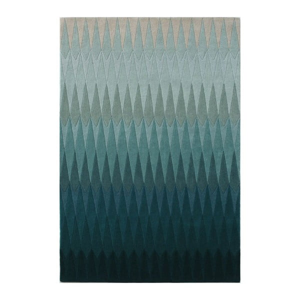 Vlněný koberec Acacia Petrol, 140x200 cm