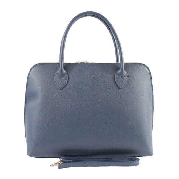 Niebieska torebka skórzana Chicca Borse Lady