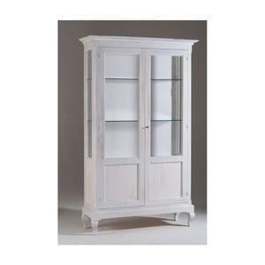 Bílá dřevěná vitrína Castagnetti Chloe