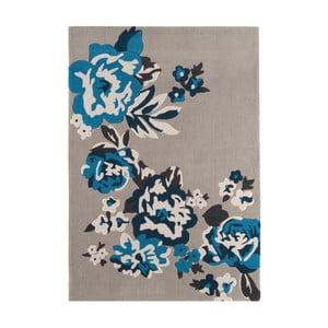 Šedý  koberec  Asiatic Carpets Harlequin Roses, 170 x 120 cm