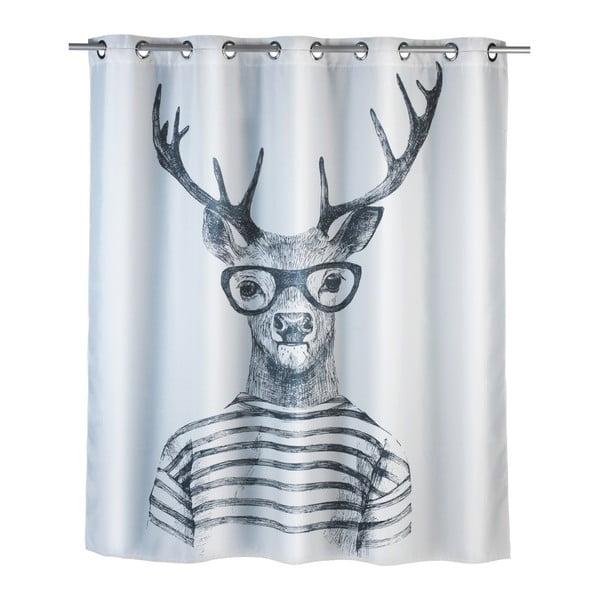 Mr. Deer fehér penészálló zuhanyfüggöny, 180 x 200 cm - Wenko