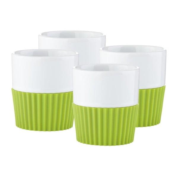 Sada 4ks hrnků na espresso Confetti Lime
