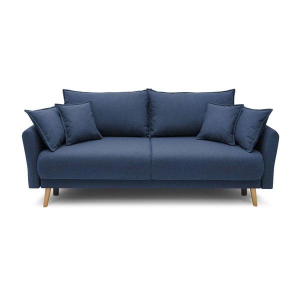 Ciemnoniebieska rozkładana sofa Bobochic Paris Mia