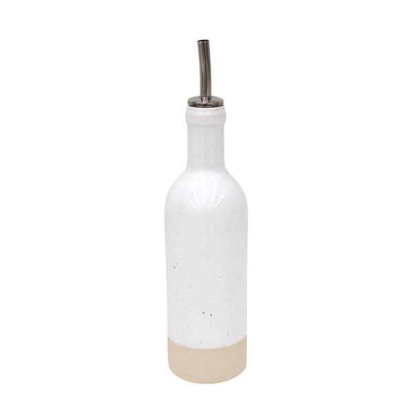 Biała butelka na olej/ocet z kamionki Casafina Fattoria,350ml