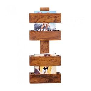 Stojan z masivního palisandrového dřeva na časopisy Skyport Candela