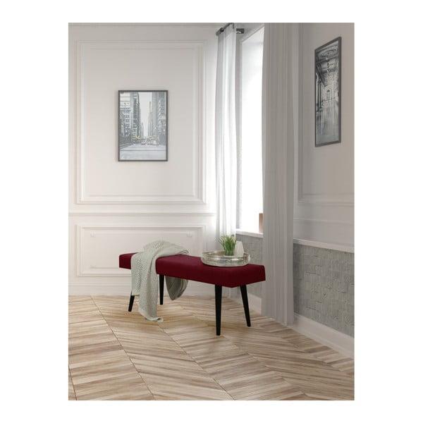 Vínová čalouněná lavice Helga Interiors Kate