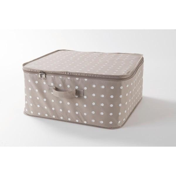 Béžový box na uložení oblečení Compactor Dots, 46x20,5cm