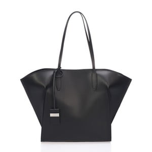Černá kožená kabelka Giulia Massari Latina