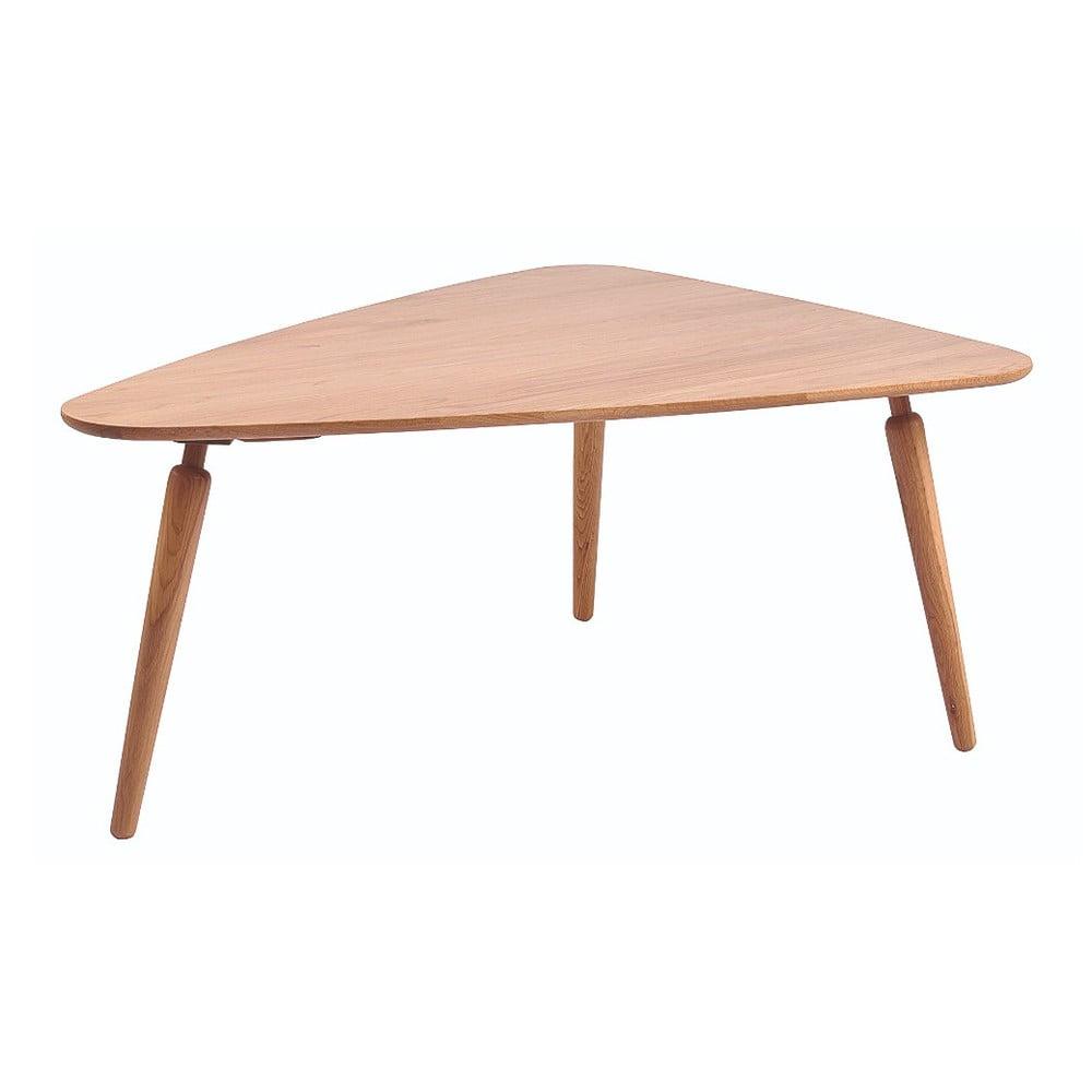 Přírodní konferenční stolek z dubového dřeva Folke Cappuccino, 85x50x114cm