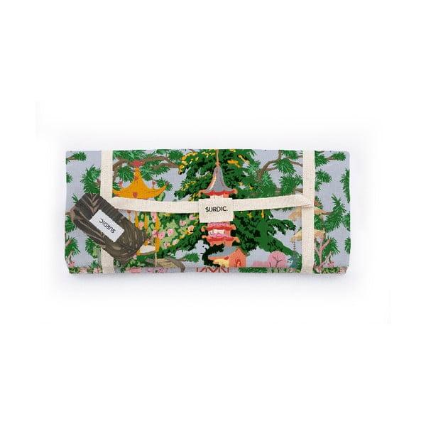 Manta Picnic kínai mintás piknik pléd, 140 x 170 cm - Surdic