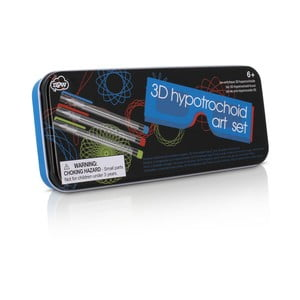 Set šablon, 3D brýlí a gelových per npw™ Hypotrochoid